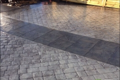 Cobblestone space with path