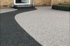 Grey space with charcoal colour path