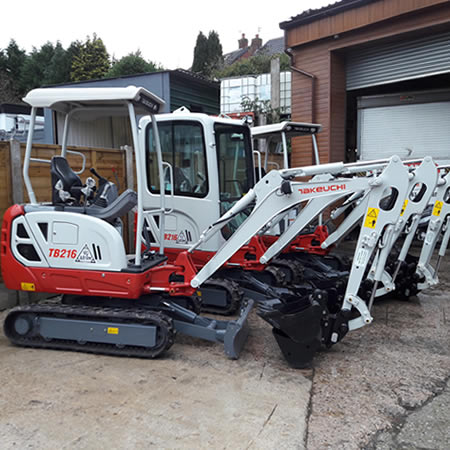 Groundwork and plant hire services